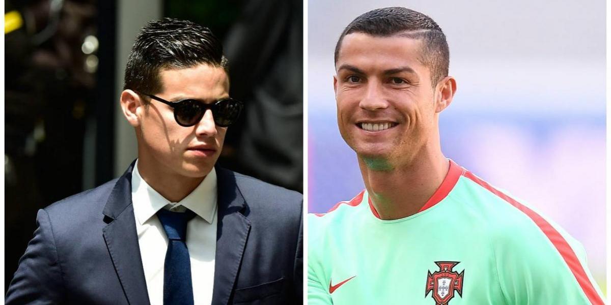 Cristiano Ronaldo se burla del cambio de imagen de James