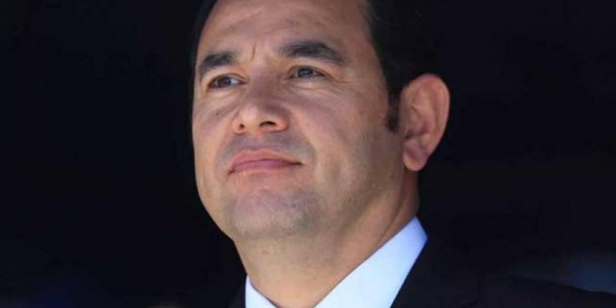 Presidente Jimmy Morales llama a la calma a guatemaltecos por sismo