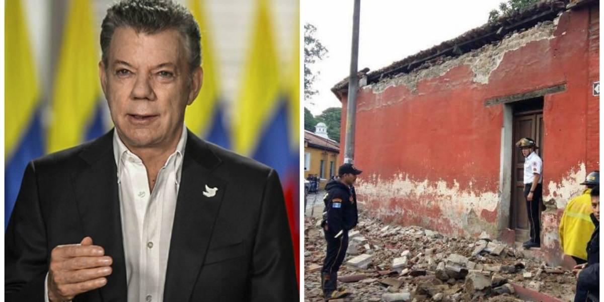 Presidente colombiano envía mensaje a Guatemala tras fuerte sismo