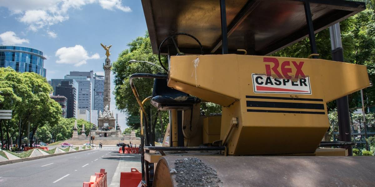 Obras de MB en Reforma, paradas una semana más: Mancera