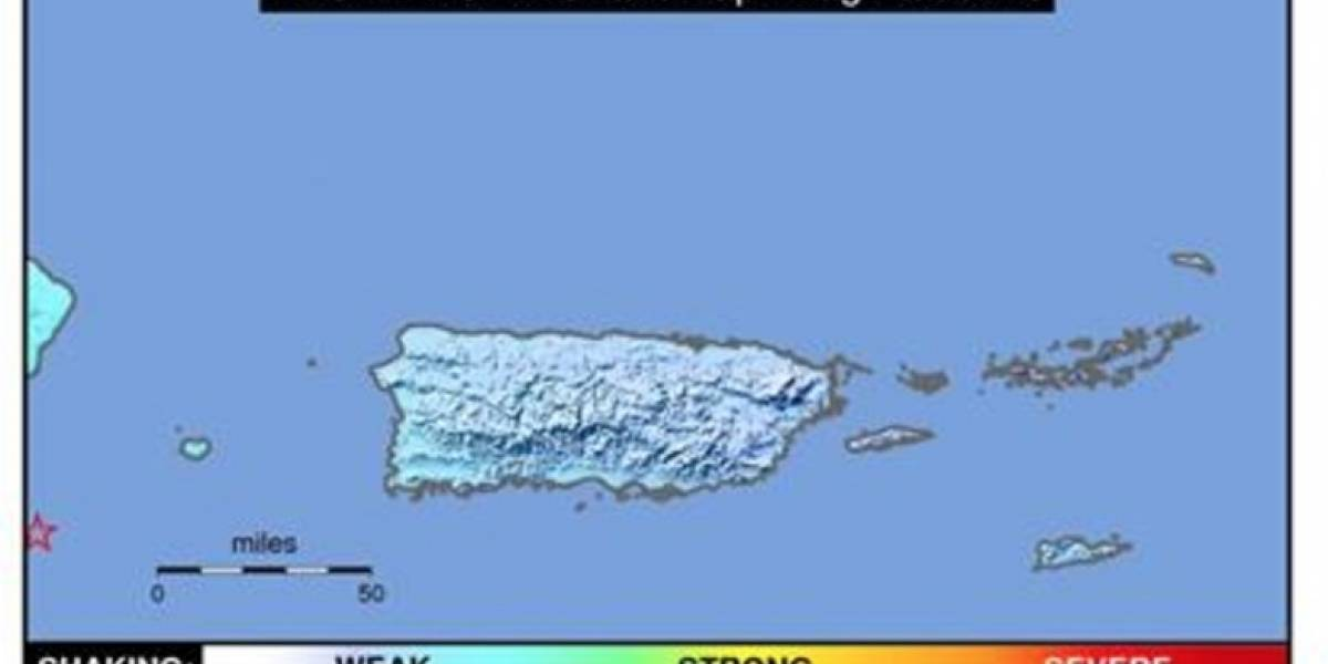 Reportan temblor al oeste de la isla