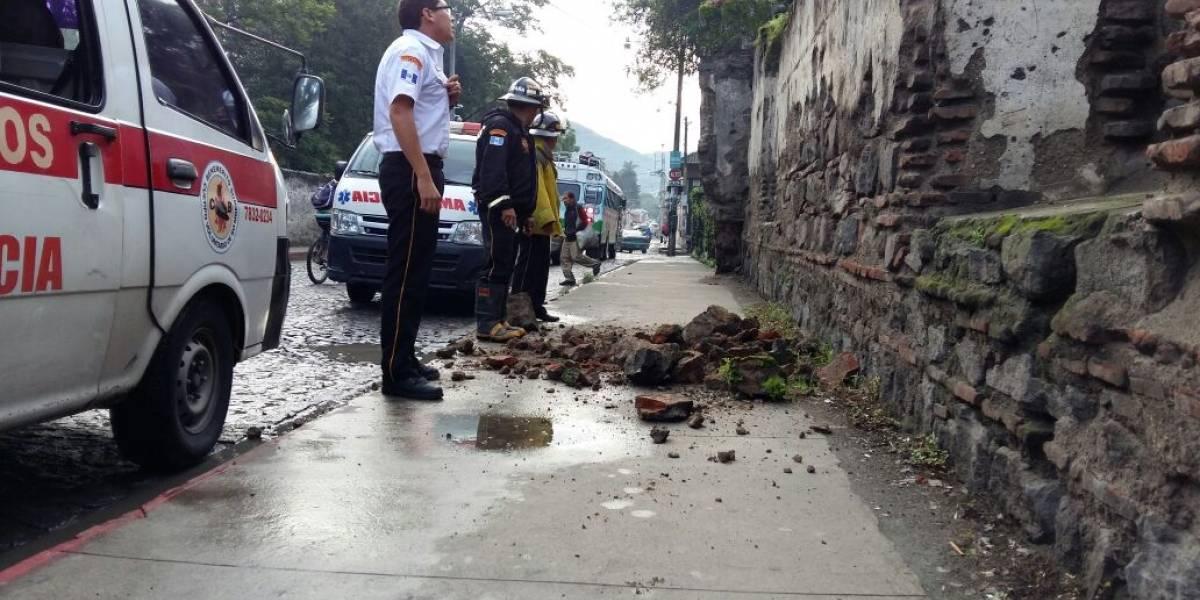 Se registran daños en viviendas de Antigua Guatemala por sismo