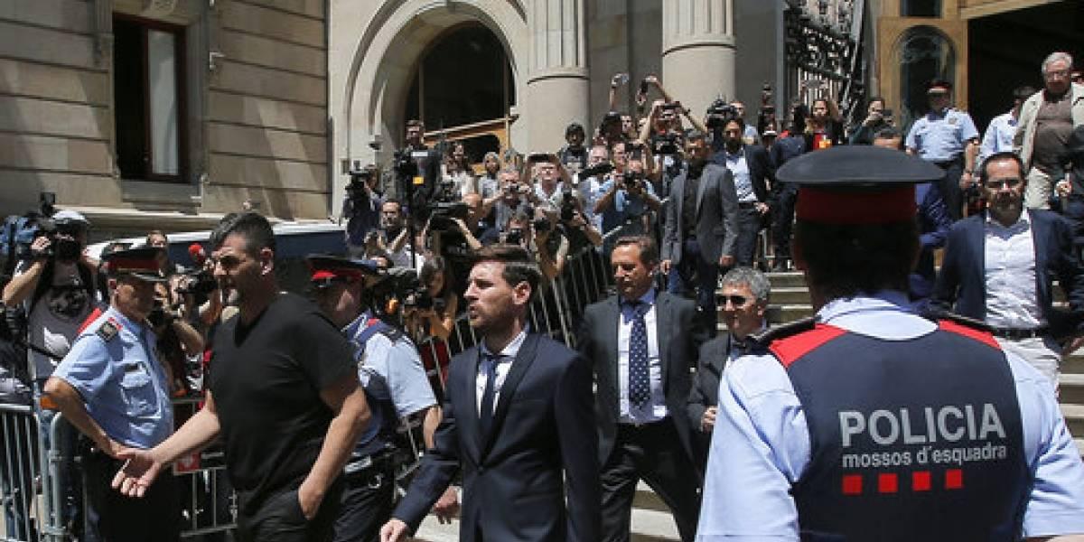 Fiscalía acepta que Messi pague multa