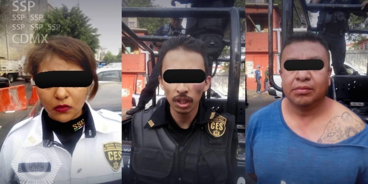 Detienen en la CDMX a dos policías en activo del Edomex