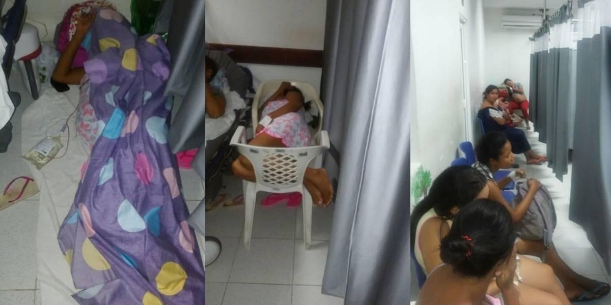 Embarazadas denuncian que esperan en sillas y en el suelo para dar a luz en hospital