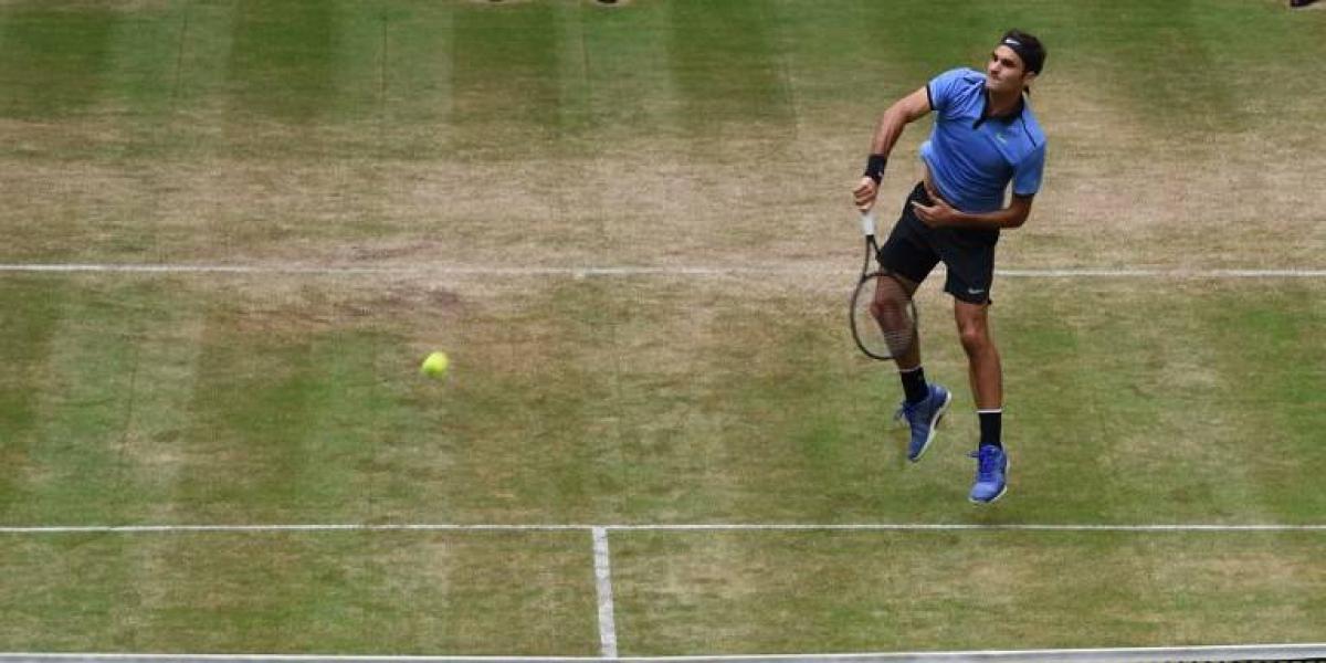 Roger Federer va por su novena corona en la hierba de Halle