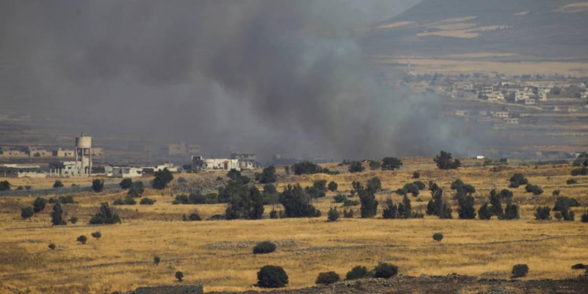 Avión israelí bombardea Siria en represalia por disparos contra los Altos de Golán