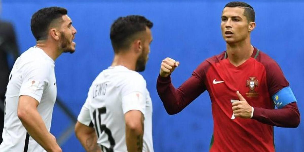 Portugal aplastó a Nueva Zelanda y ganó el Grupo A de la Confederaciones