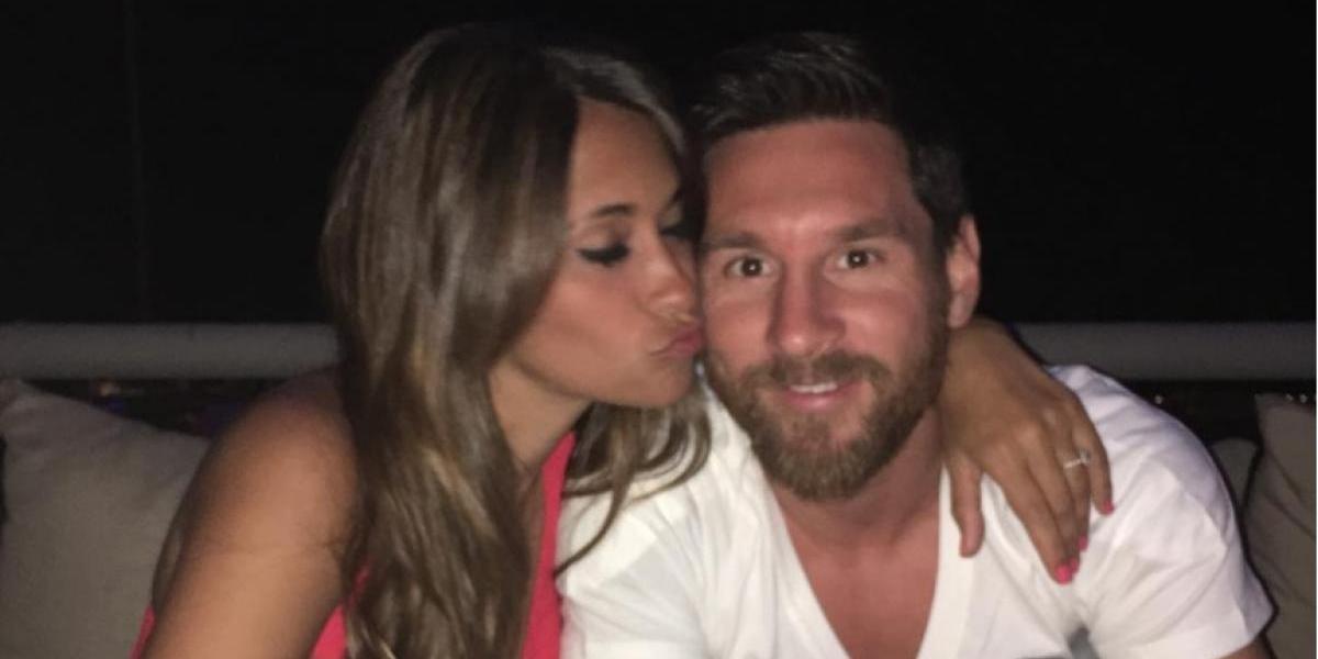 Antonella Roccuzzo felicita a Messi con una romántica imagen