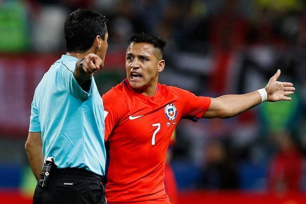 Alexis Sánchez reicbió amarilla en el duelo ante Alemania / Photosport