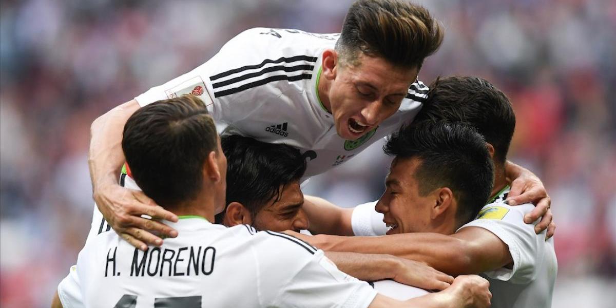 México sufre pero se clasifica a las semifinales de la Confederaciones