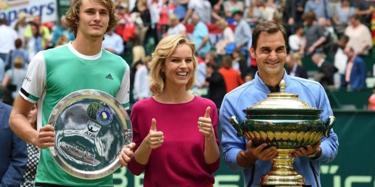 Federer le da una paliza a Zverev en la final de Halle y llega prendido a Wimbledon