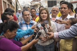 Doménica Tabacchi inspeccionó trabajos en avenidas