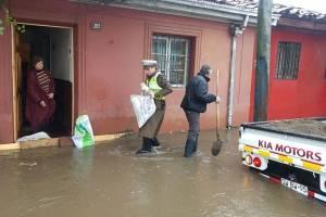 Más de 70 casas anegadas en la provincia de Talca
