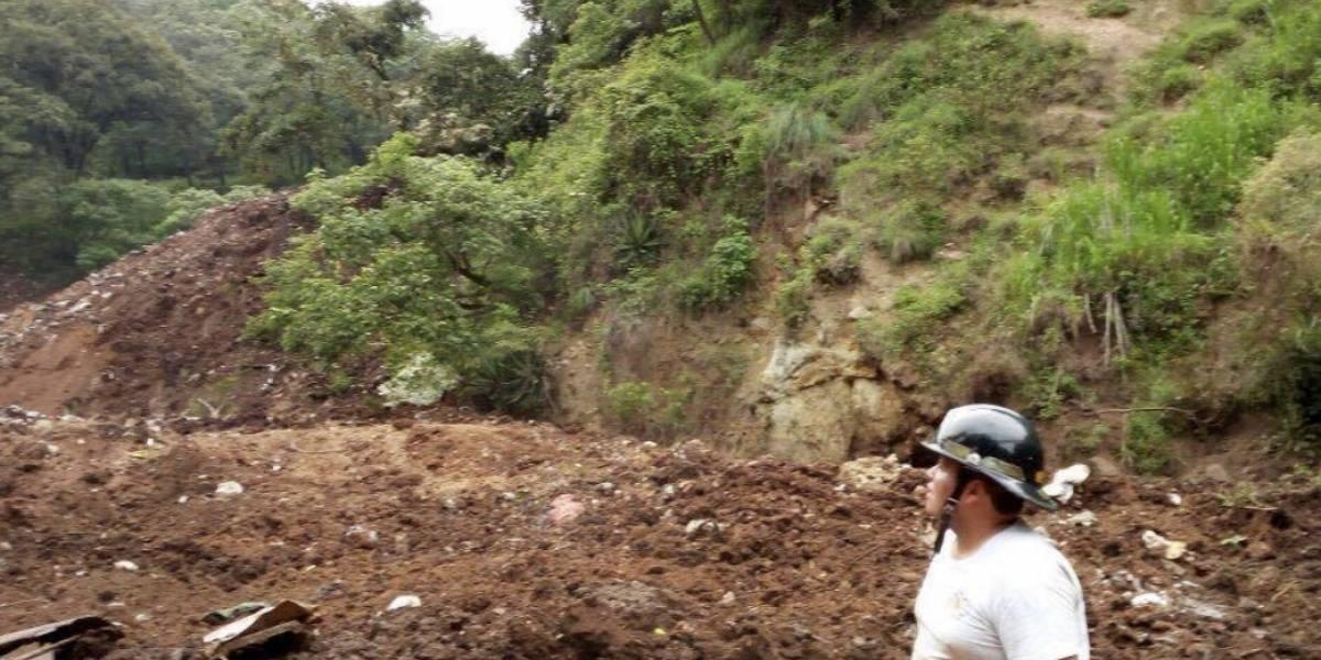 Se registra un nuevo deslizamiento de tierra en San Pedro Soloma