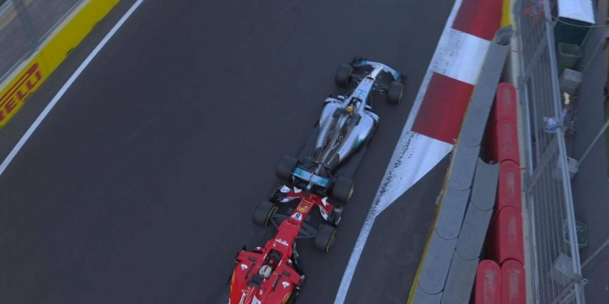 Choque Hamilton-Vettel marca el GP de Azerbaiyán que ganó Ricciardo