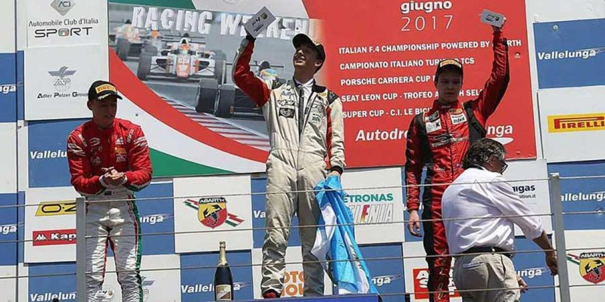 VIDEO. Ian Rodríguez conquista el podio de la Fórmula 4 en Italia