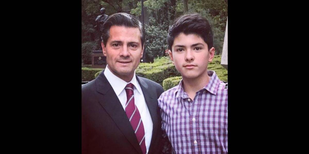 Peña Nieto felicita a su hijo Diego en redes sociales