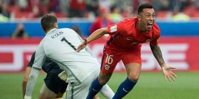 Martín Rodríguez anota el celebrado gol del empate para Chile