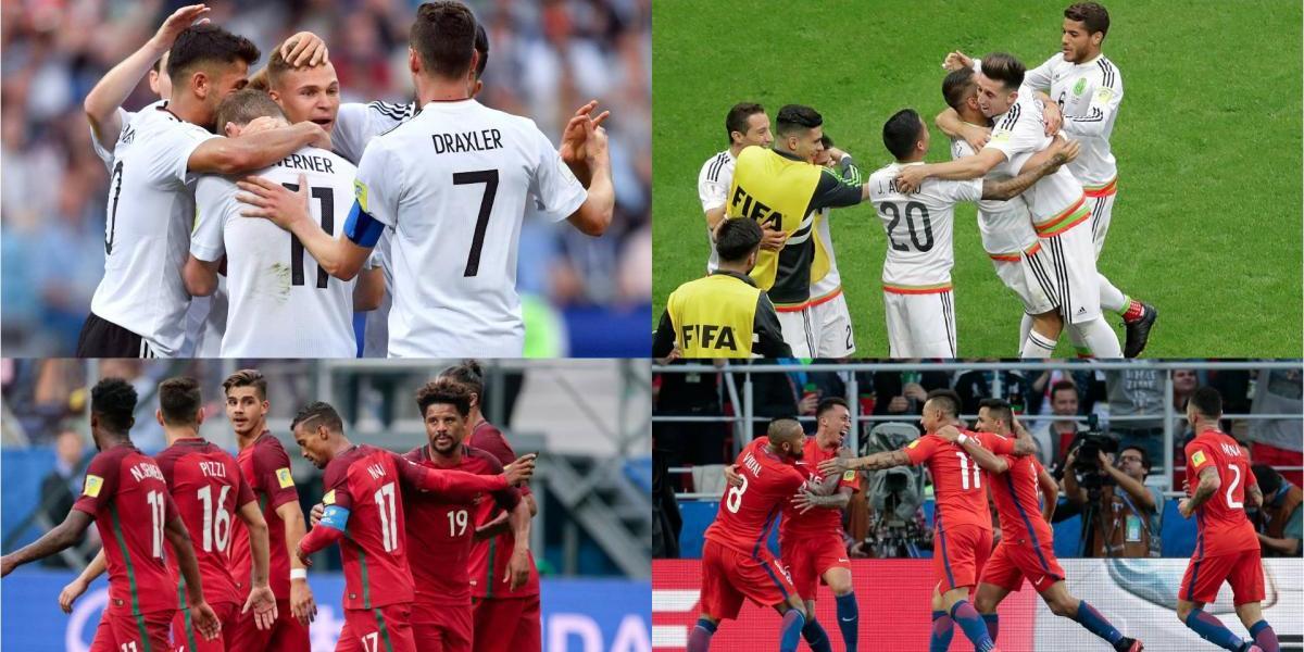 Alemania vs México y Portugal vs Chile, las semifinales de Confederaciones