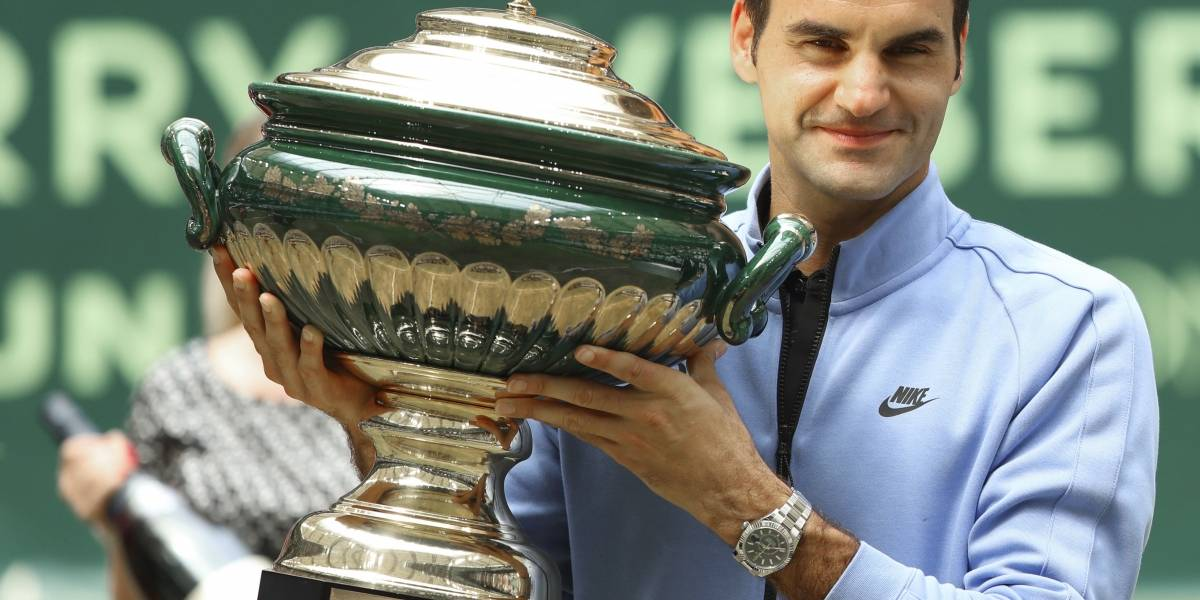 Federer se corona por novena vez en Abierto de Halle