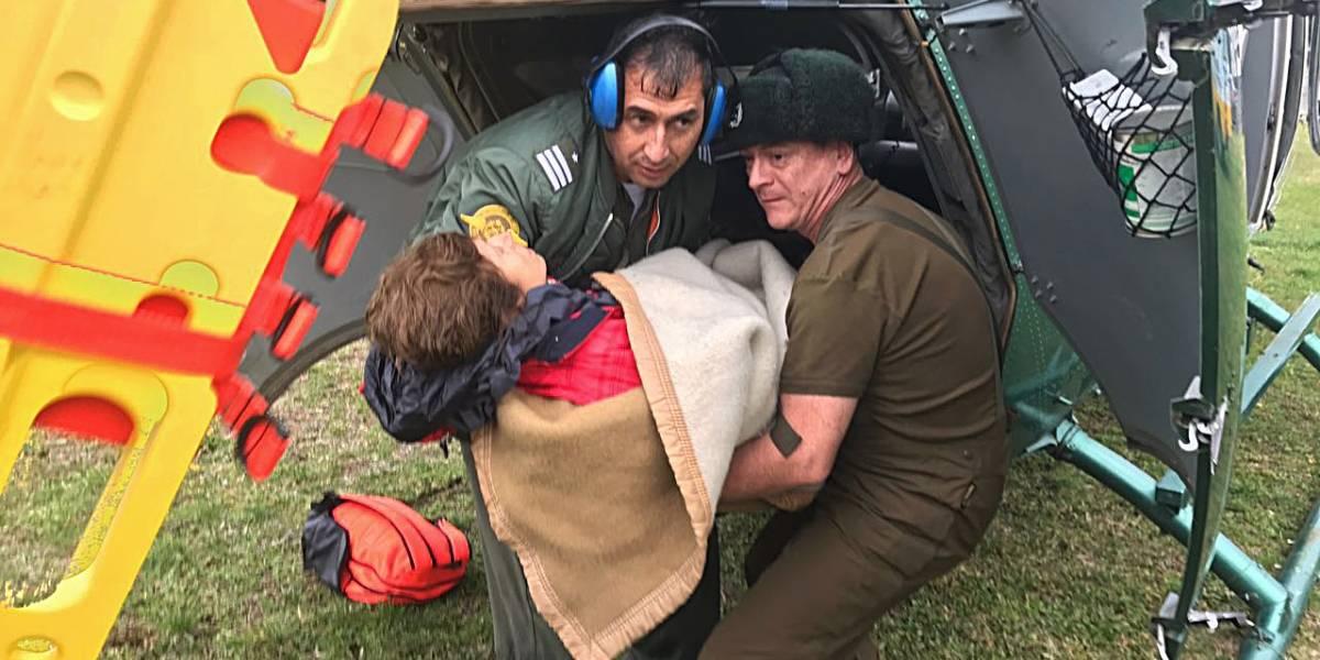 Fallece una mujer del grupo de 11 montañistas rescatados desde volcán Lonquimay