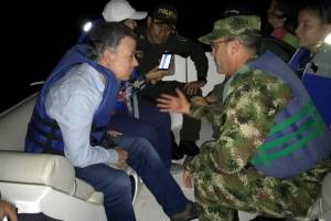 Santos dice son seis los muertos y 31 desaparecidos por naufragio en Guatapé