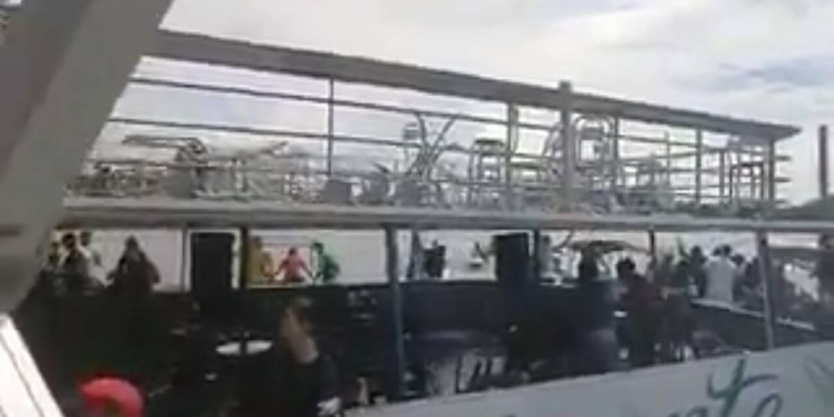 Revelan video de rescate de personas mientras se hundía 'El Almirante', en Guatapé