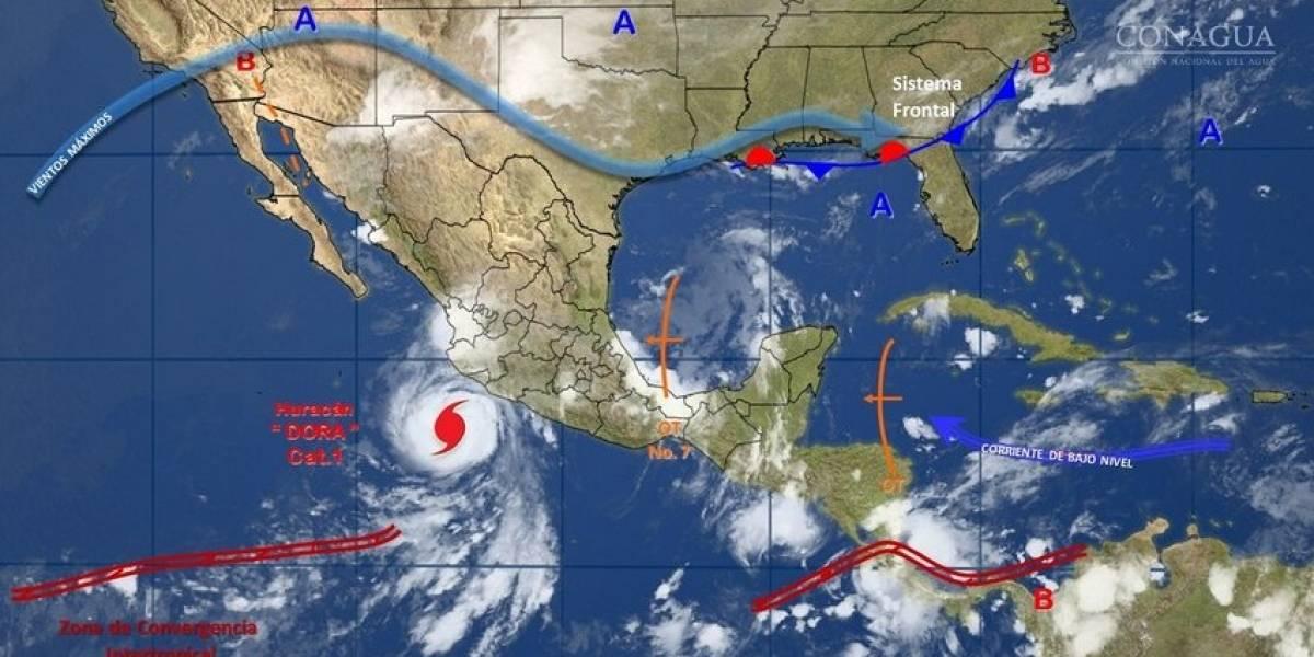 """Dora"" se convierte en huracán categoría 1; se ubica frente a Colima y Jalisco"