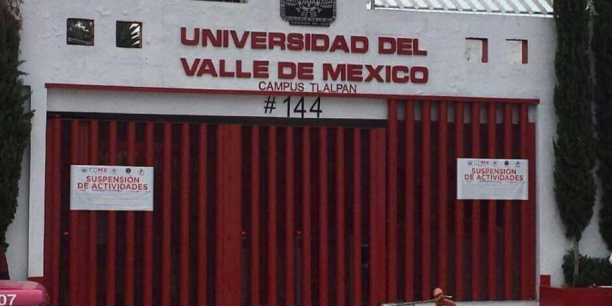 Colocan sellos de suspensión a instalaciones de UVM Tlalpan