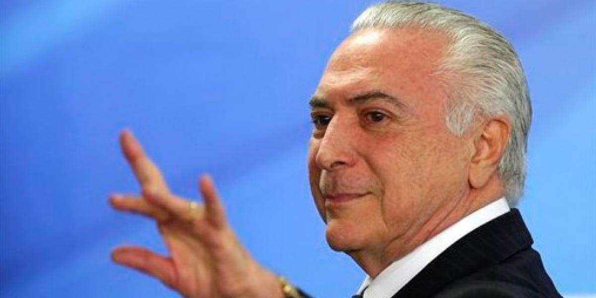 Acusan formalmente al presidente de Brasil por corrupción