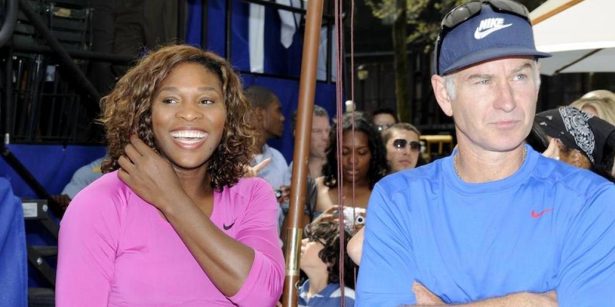 """""""Serena Williams sería la número 700 en el tenis masculino"""": John McEnroe"""