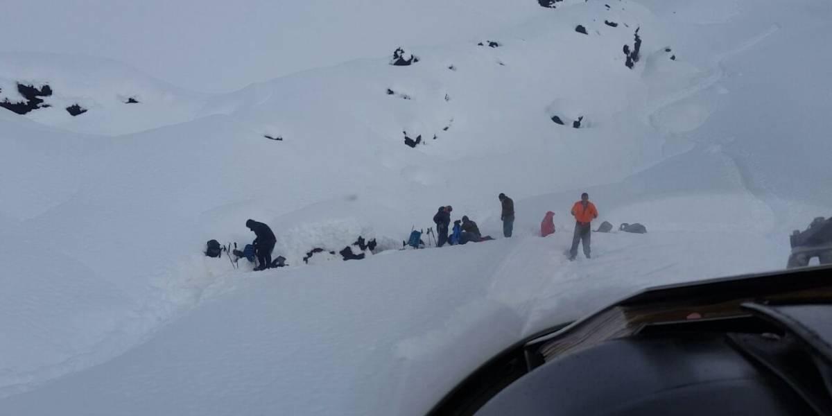 Rescatan a 11 personas perdidas en el volcán Lonquimay
