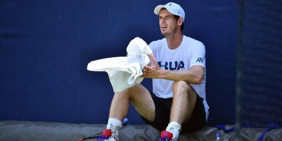 Andy Murray se lesiona la cadera y enciende alarmas para Wimbledon