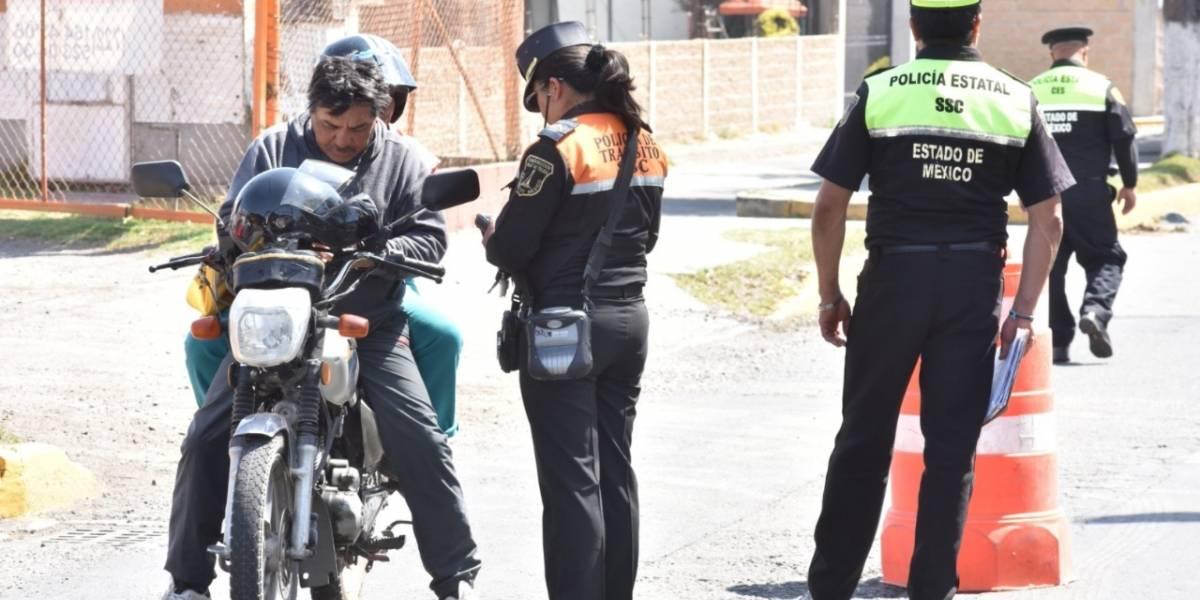 """Más de 15 mil motociclistas infraccionados por operativo  de seguridad """"Pegaso""""  en Edomex"""