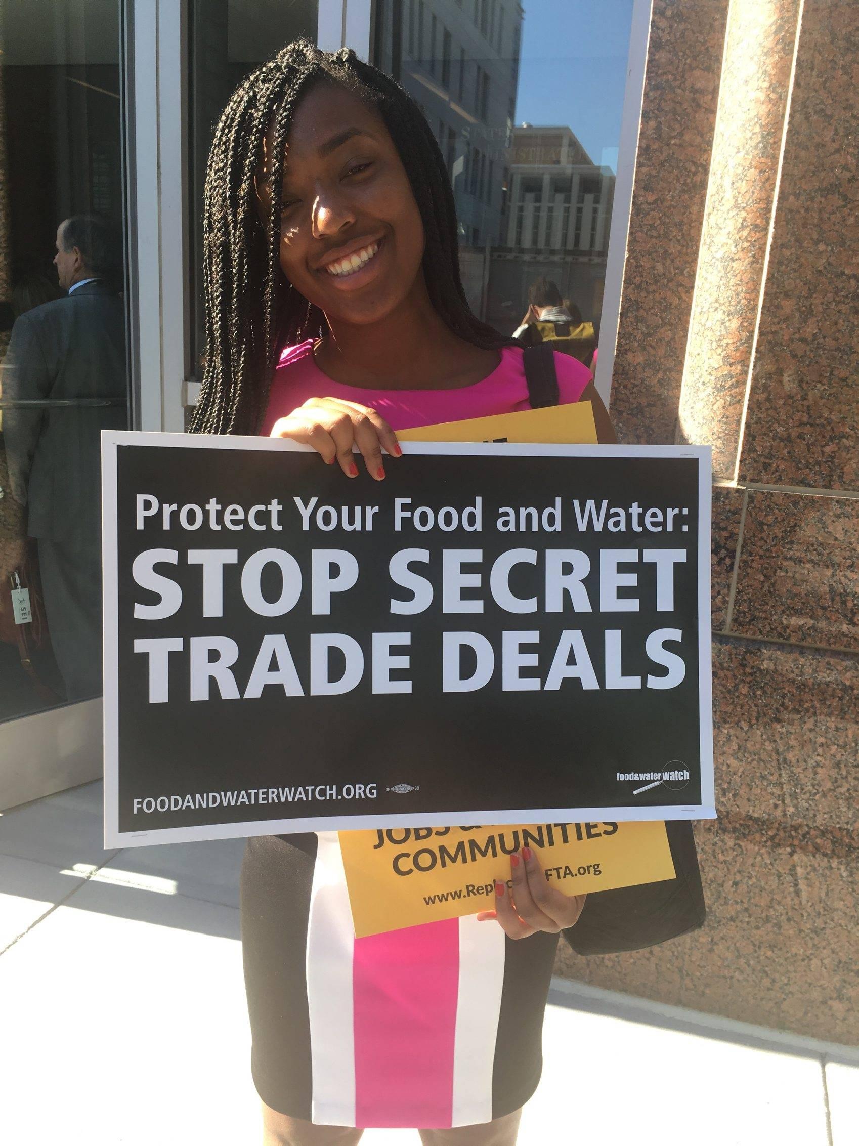 Manifestaciones por renegociación del TLCAN Foto: Notimex