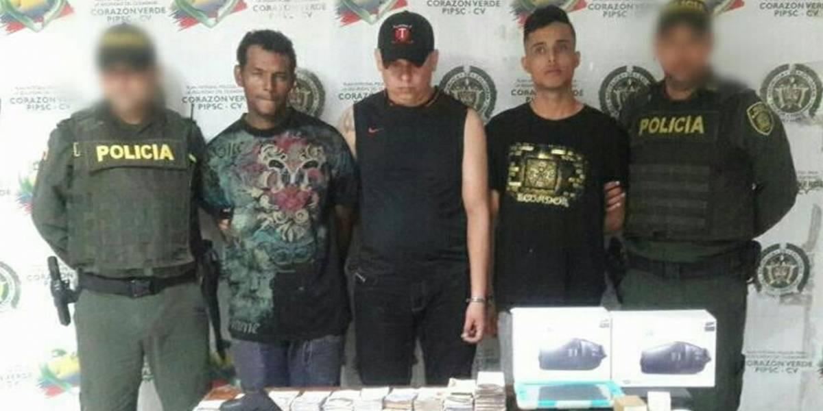 Los capturaron repartiéndose un botín de 95 millones de pesos en Atlántico