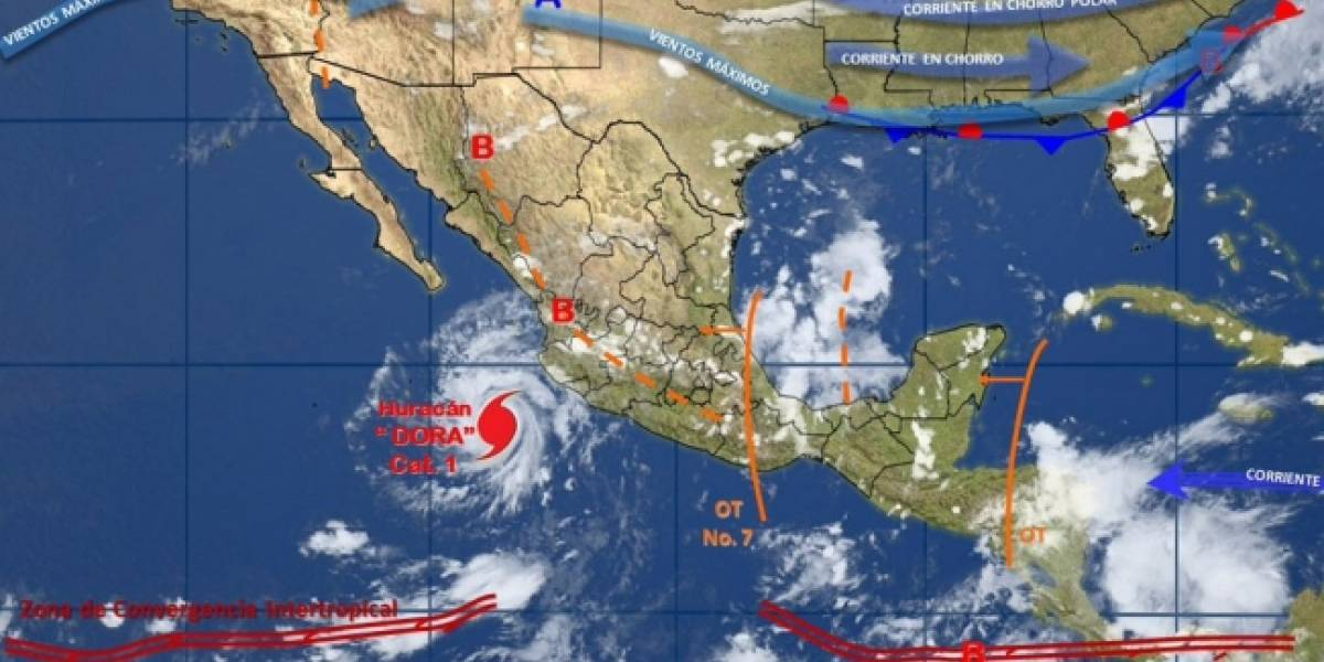 Huracán 'Dora' se debilita y se aleja de costas nacionales