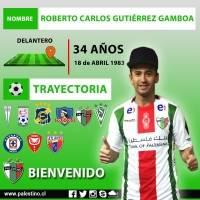 Roberto Gutiérrez: Tras lograr su desvinculación de Universidad Católica, el delantero se convirtió en el quinto refuerzo de Palestino. El atacante de 34 años firmó por dos años con el cuadro árabe y tendrá la posibilidad de jugar la segunda fase de la Co