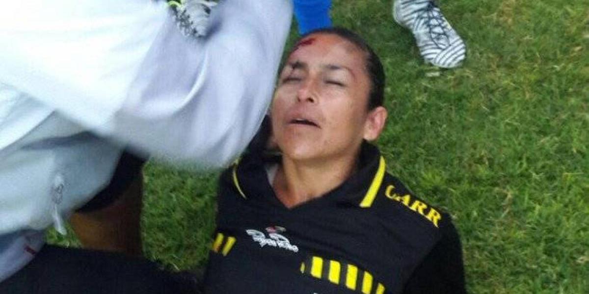 Árbitro mexicana fue agredida en pleno juego