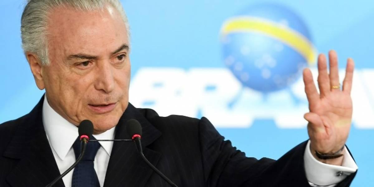 """Temer dice que la denuncia por corrupción en su contra """"es una ficción"""""""