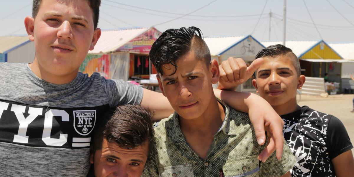 Refugiados celebran un eléctrico Eid al-Fitr
