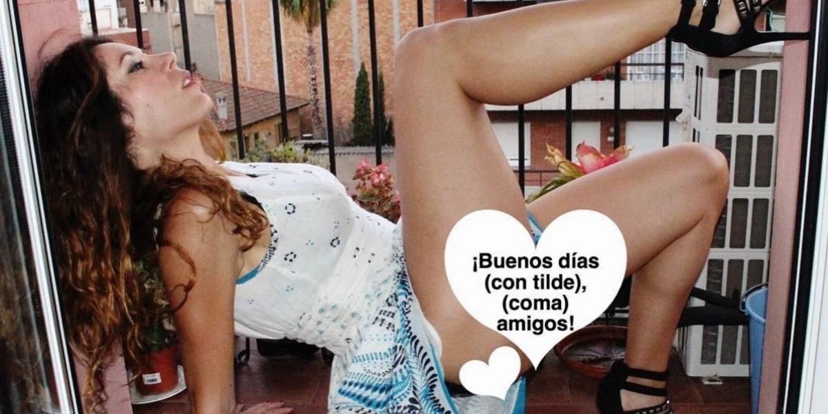 Periodista enseña ortografía con sensuales fotografías en Instagram