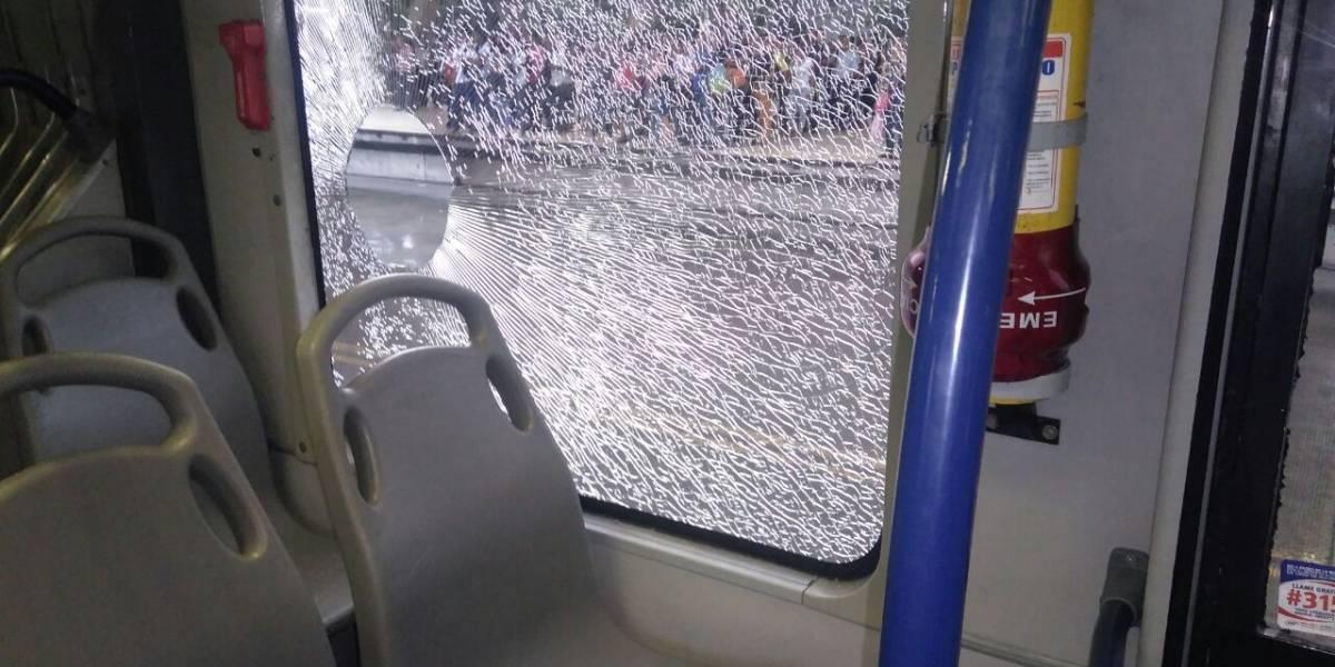Los daños en Transmetro que dejó la presentación de Teo en el Metropolitano