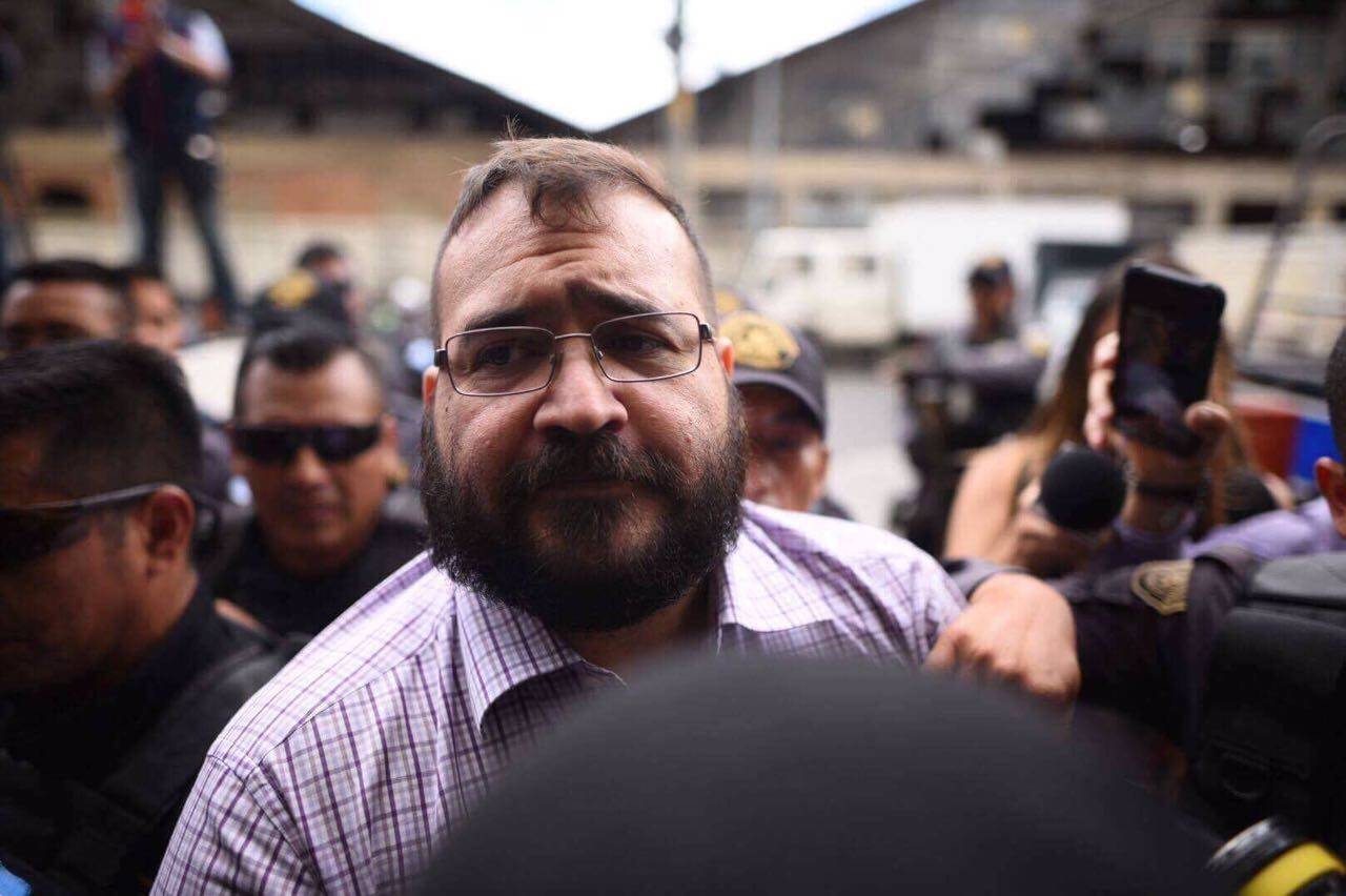Llegada de Javier Duarte al Tribunal Tercero Foto: Publinews Guatemala