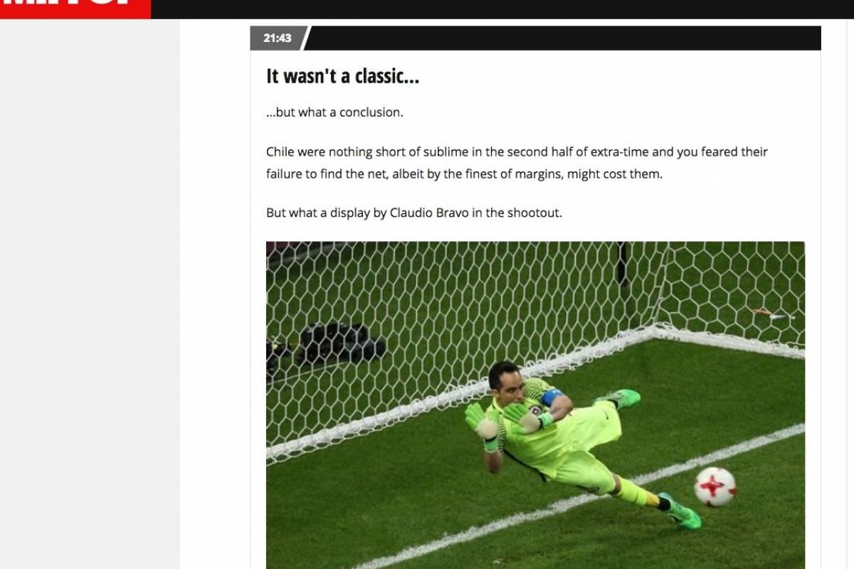 La prensa inglesa cambió las críticas por los elogios para Claudio Bravo