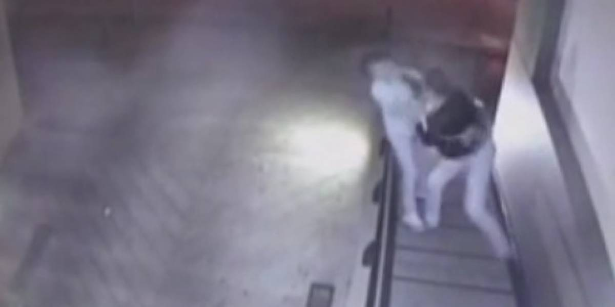 Video: Así fue como hombre en Bogotá golpeó a su pareja y de paso a un vecino que intentó defenderla