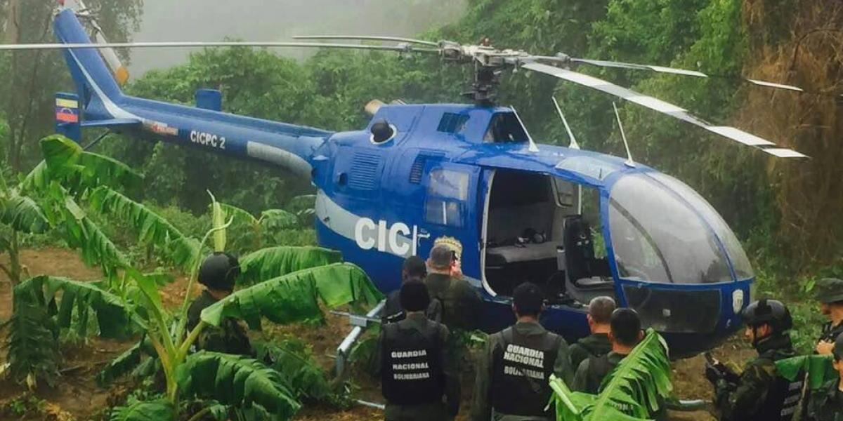 Encuentran helicóptero usado en