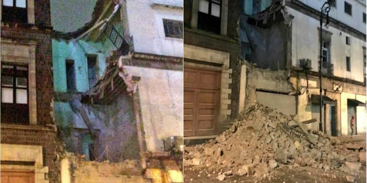 Colapsa edificio en Centro Histórico de la CDMX