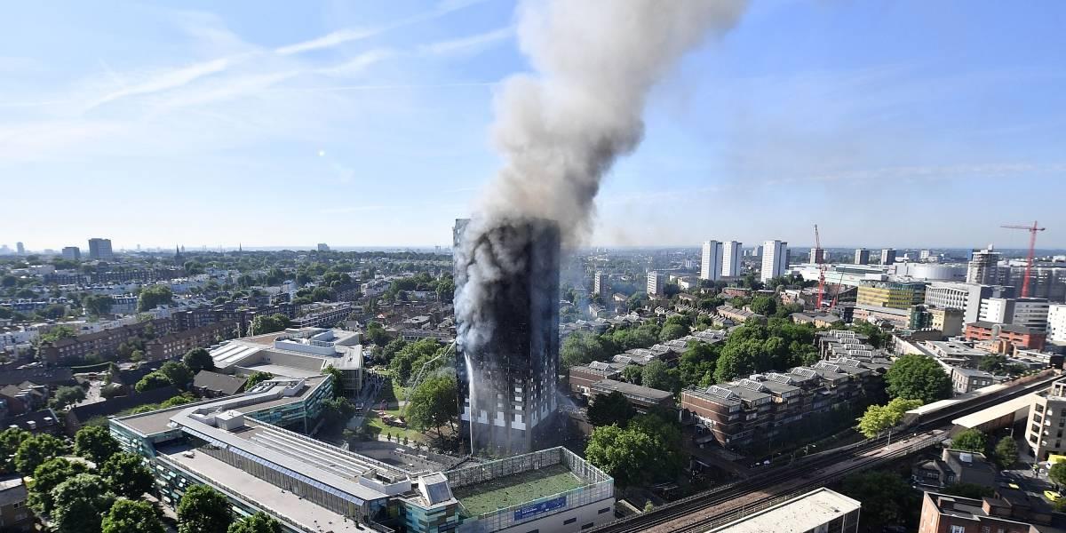 La cifra de muertos en incendio de Londres se conocerá hasta 2018